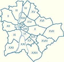 Карта районов Будапешта